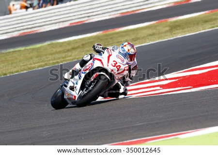 Misano Adriatico, Italy - June 21: Honda CBR 650F of Drayton Racing Team, driven by DRAYTON Dan in action during the European Junior Cup  the FIM Superbike World Championship  on June 21, 2015