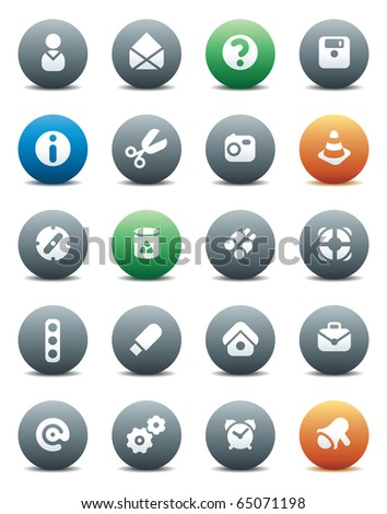 Miscellaneous buttons. Icons for websites and interface elements. Raster version. For vector version of this image, see my portfolio.
