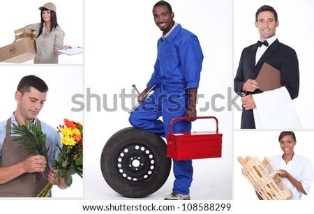 Miscellaneous jobs - stock photo