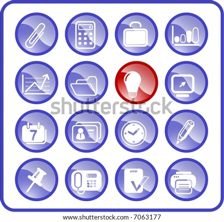 Miscellaneous office raster icons. Vector version is available in my portfolio