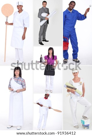 miscellaneous shots of people in professional outfit - stock photo
