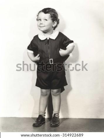 Mischief on his mind - stock photo