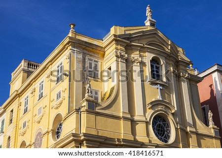 Misericorde Chapel seen afternoon. Nice, French Riviera, France. - stock photo