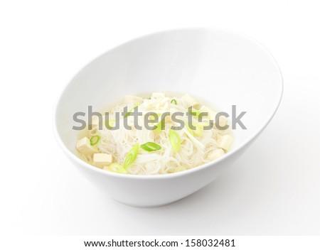 Miso Noodle Soup - stock photo