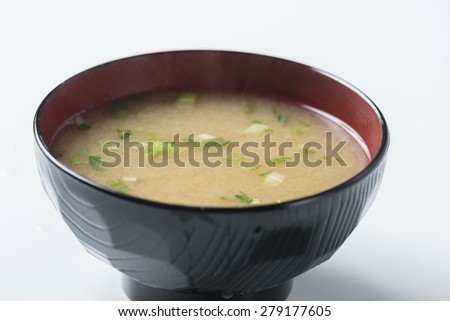 miso soup - stock photo