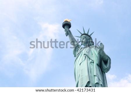 Miss Liberty - stock photo