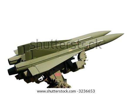Missile isolated on white background - stock photo