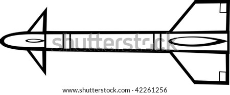 missile rocket weapon - stock photo