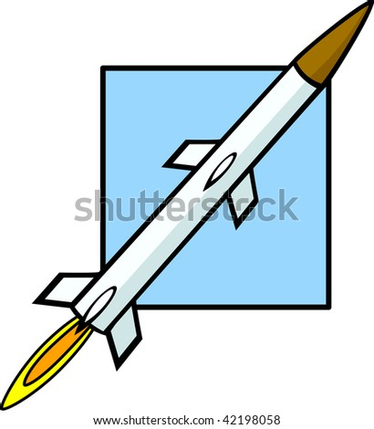 missile weapon - stock photo