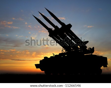Missiles in Libya. - stock photo