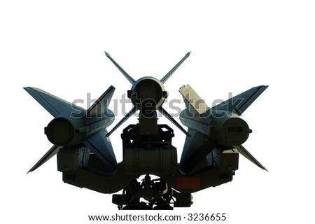 Missiles isolated on white background - stock photo