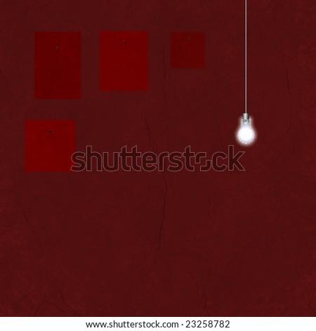 Missing Art and light bulb - stock photo