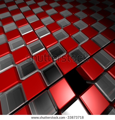 missing cube background - stock photo