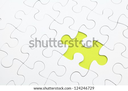 missing Jigsaw puzzle - stock photo