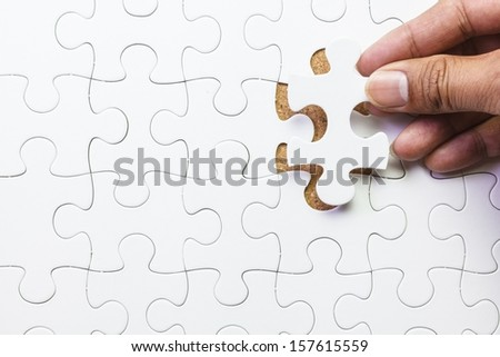 Missing jigsaw puzzle piece