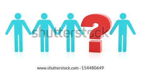 Missing link on the white background - stock photo