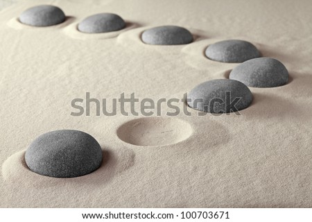 missing or job vacancy help wanted lost people incomplete group join the team rock stone sand pebble pattern hole fill the gap link together concept - stock photo
