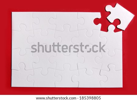 Missing Piece - stock photo