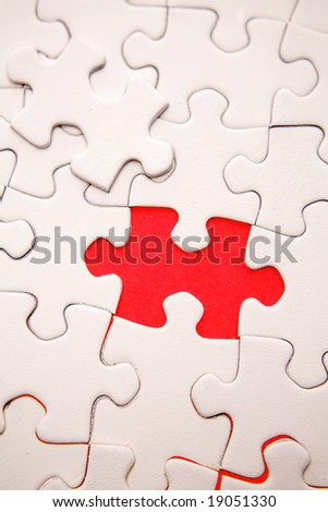 Missing piece of puzzle