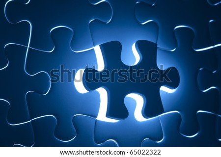 Missing puzzle, business concept for completing the final puzzle piece