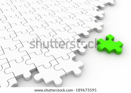 missing puzzle piece. Concept image of unfinished task - stock photo