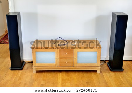 Missing tv. removed or stolen - stock photo