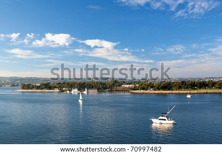 Mission Bay in San Diego - stock photo