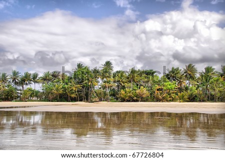 Mission Beach in Tropical Queensland, south of Cairns, Australia - stock photo