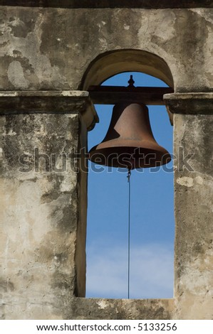 Mission Concepcion in San Antonio Missions National Historic park, Texas - stock photo