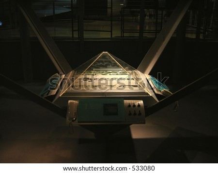 Mission Control Center -- with simulation and communications devices - stock photo