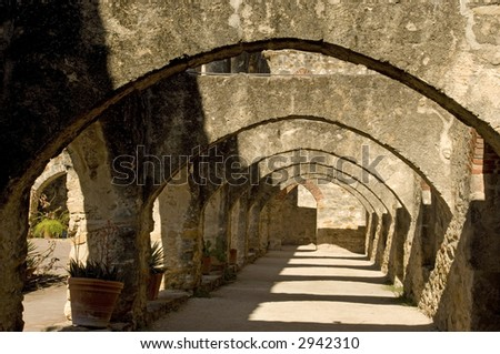 Mission San José in San Antonio Missions National Historic park, Texas - stock photo