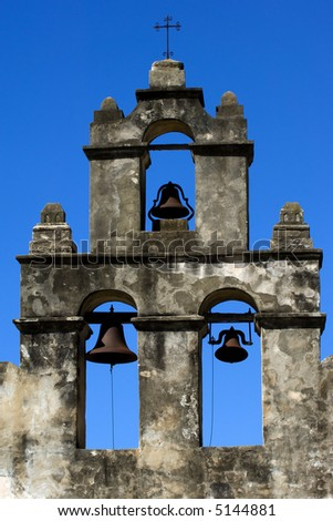 Mission San Juan in San Antonio Missions National Historic park, Texas - stock photo