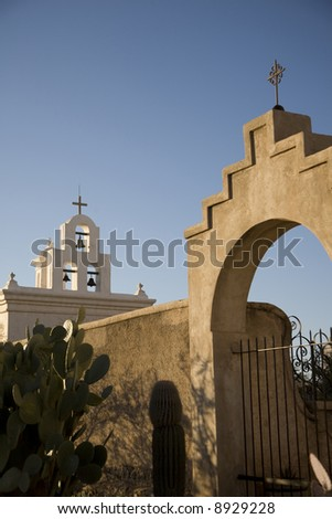 Mission San Xavier Del Bac - stock photo