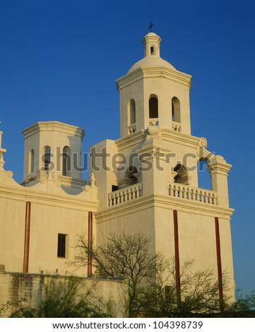 Mission San Xavier del Bac from 1783-1797, Tucson, Arizona - stock photo