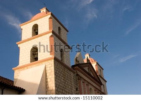 Mission Santa Barbara is a Spanish Franciscan mission near present day Santa Barbara, California. - stock photo