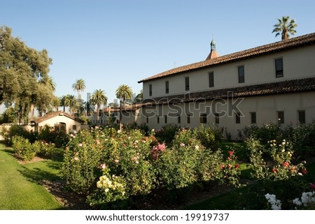 Mission Santa Clara was founded on January 12, 1777 and named for Clare of Assisi, the founder of the order of the Poor Clares. - stock photo