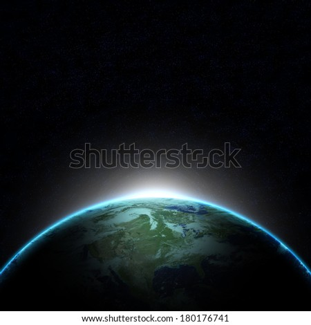 Mission to Earth - stock photo