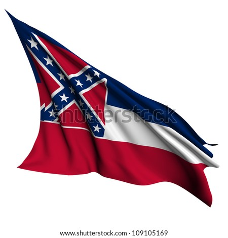 Mississippi flag - USA state flags collection no_2 - stock photo