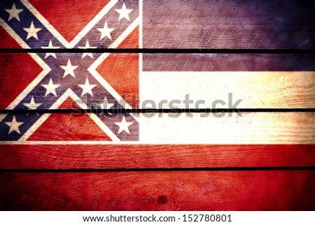 Mississippi flag wood
