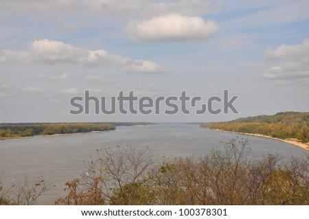Mississippi river - stock photo