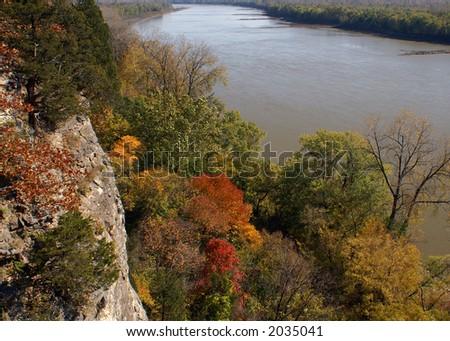 Missouri River- Lewis and Clark Hiking Trail - stock photo