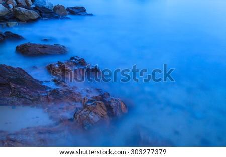 Mist Sea  - stock photo