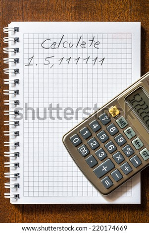Mistake in the calculations - stock photo