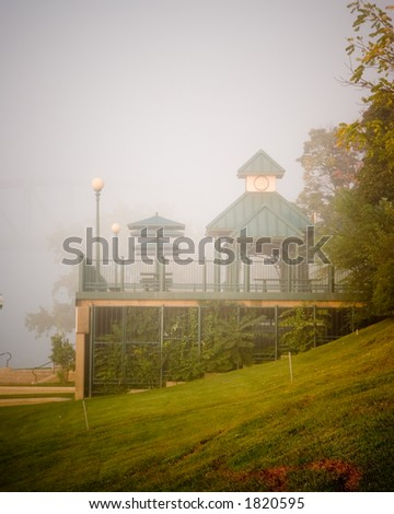 Misty Morning by the Ohio River