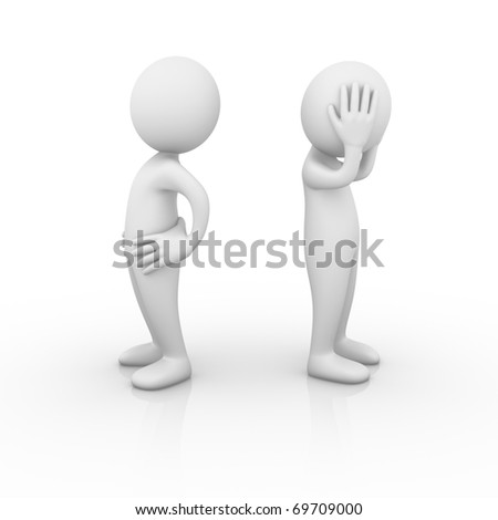 Misunderstanding - stock photo