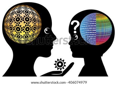 Misunderstanding Digital Kids. Adults may find it difficult to understand the teenage brain  - stock photo