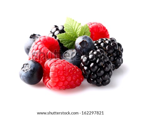Mix berry in closeup - stock photo