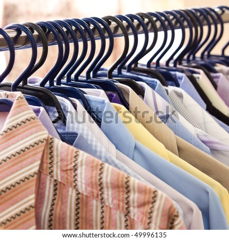Mix color Shirt and Tie on Hangers