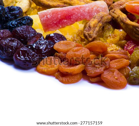 mix dried fruits collection - stock photo