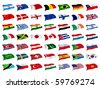 Mix Flags - stock vector